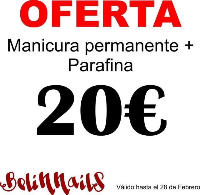 Manicura permanente 20 euros. Belinnails Valladolid
