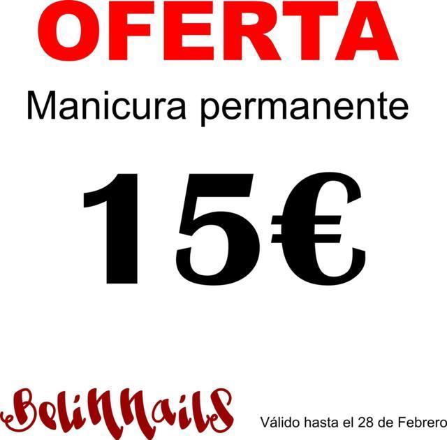 Manicura Permanente 15 euros
